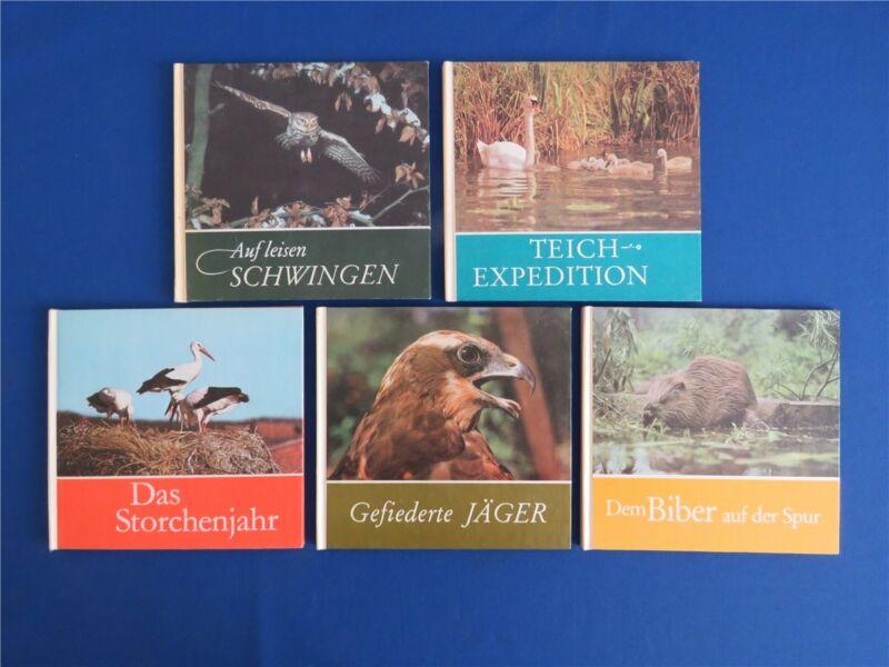 5 x DDR Tierbuch Kinderbuch Für junge Natur- Tierfreunde - Rudolf Arnold Verlag