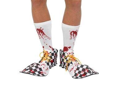 Smi - Kostüm Zubehör blutige Horror Clown Schuhe - Halloween Clown Schuhe