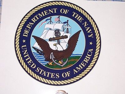US Department of the Navy Circle Wall Window Graphic Decal decals Sticker Sea