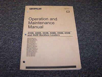 Caterpillar Cat 424d 428d Backhoe Loader Owner Operator Maintenance Manual Book