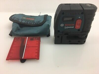Bosch GPL 5 Self Leveling 5 Point Plumb & Square Point Laser (ML1040833)