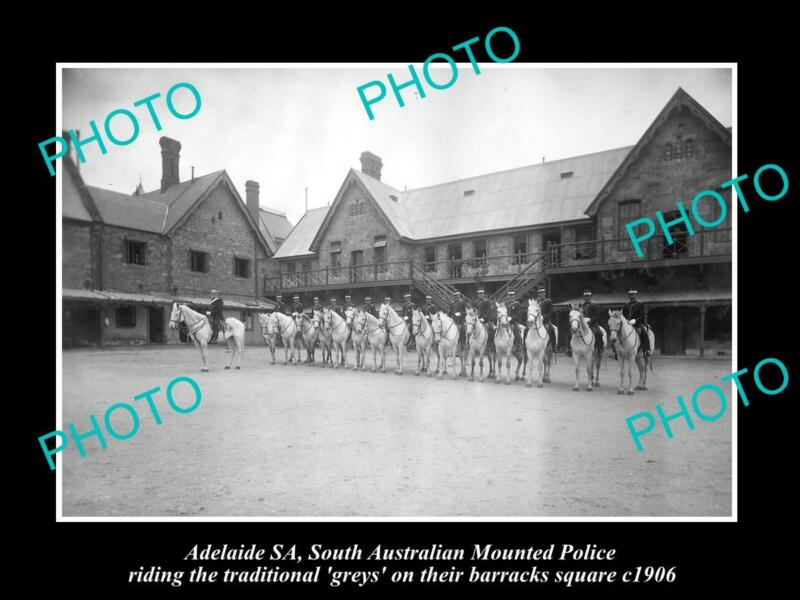 OLD POSTCARD SIZE PHOTO OF ADELAIDE THE SOUTH AUSTRALIA MOUNTED POLICE 1906