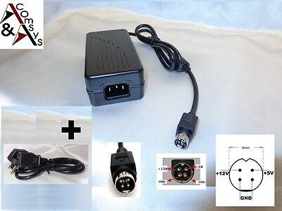 Netzteil 12V 5V f. externe Festplatte Gehäuse LaCie 708014 708013 707610 4Pin #L