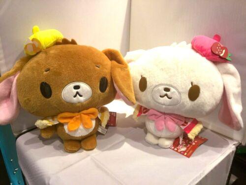 RARE Sanrio Sugar Bunnies Gato Poncho BIG Plush Doll 2PCS SET Limited to JAPAN