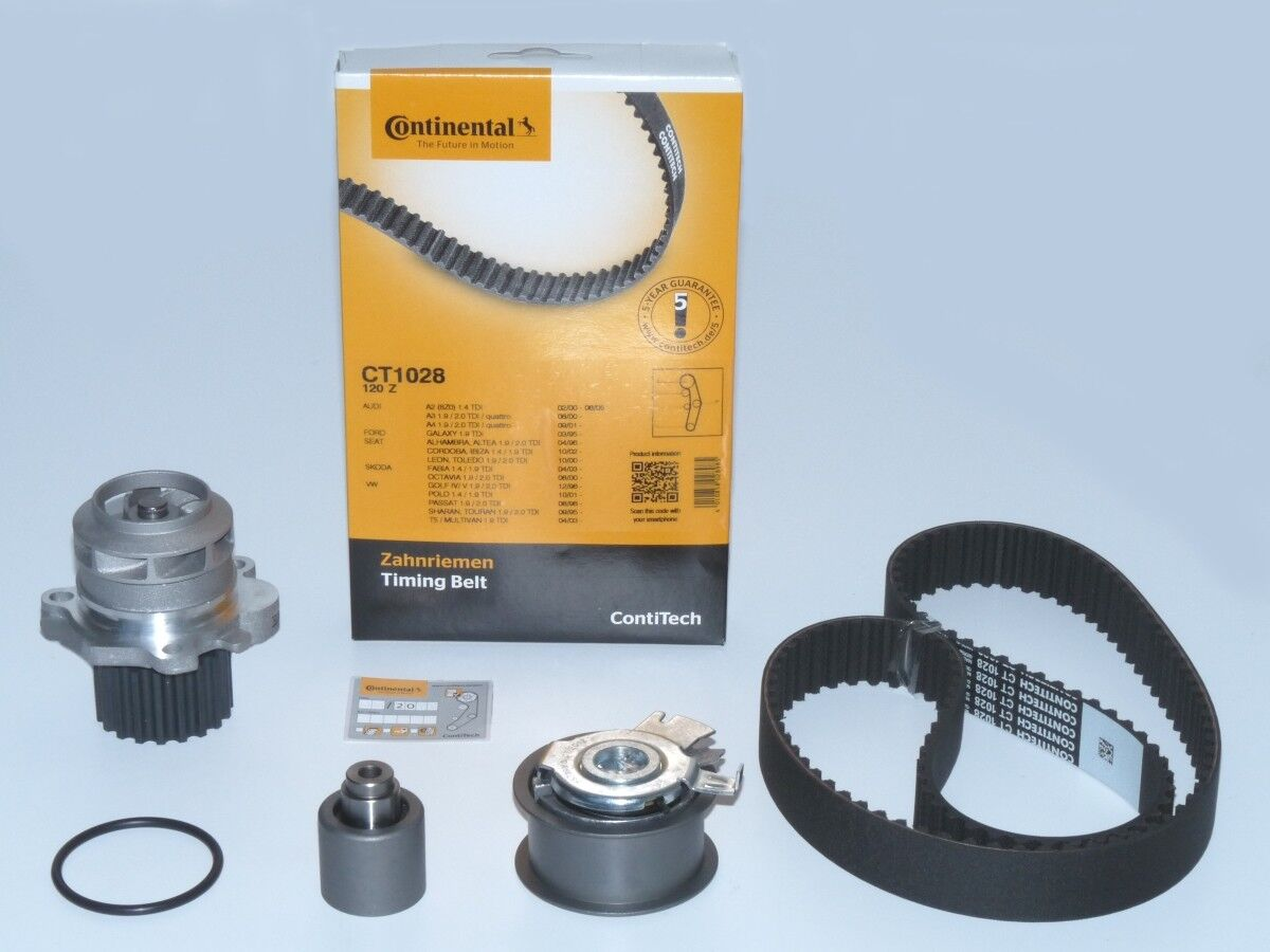 CONTI Zahnriemen +Rollensatz Wasserpumpe ASZ ATD AXR AVF AVB BKE BMM 1.9 2.0 TDI