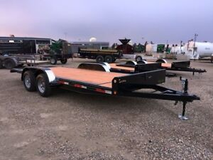 2019 Oasis Trailer Mfg Ltd 18' Economy Tilt Flatdeck Car Hauler