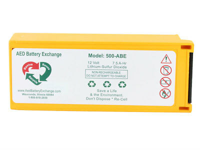 Physio Control Medtronic Lifepak 500 Replacement Aed Battery Lp-500