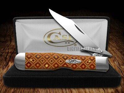 Case xx Chestnut Bone Cheetah Knife Diamond Pattern Pocket Knife Stainless