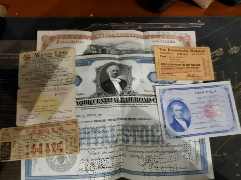 WWII Era Misc. Train Related Items