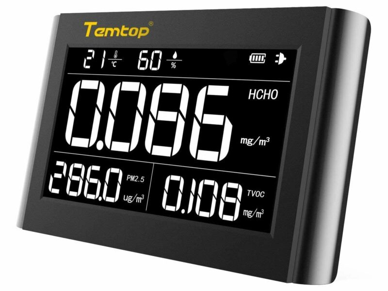 Temtop M1000 Air Quality Monitor HCHO PM2.5 TVOC Monitor Temperature Humidity