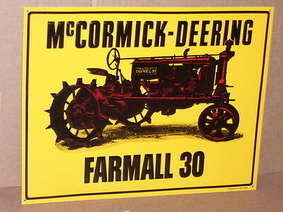 Farmall 30   Mccormick Deering Tractor Sign   Old Sign   Dated 1992 Case Company
