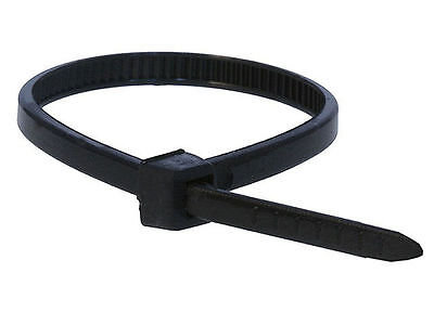 "1000) 6"" INCH ZIP CABLE TIES TIE-WRAP NYLON BLK 25 LBS UV FASTEN STRAP WIRE LOOP"