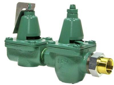 Taco 334-t3 12npt Cast Iron Dual Valve Pressure Reducing Valve Relief Valve