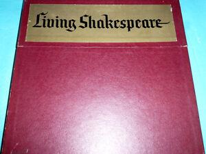Living Shakespeare 3 LP Box & Text NICE!!