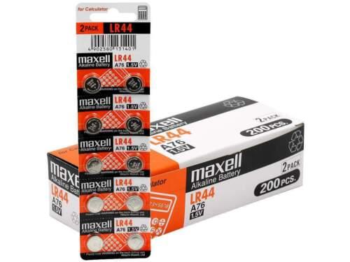 10 NEW Maxell Lr44 A76 Ag13 357 L1154 Alkaline 303 Batteries Cell 1.5v
