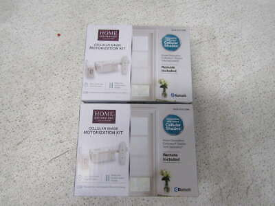 Case of 2 Home Decorators Collection Cellular Shade Motorization Kits W/ Remote