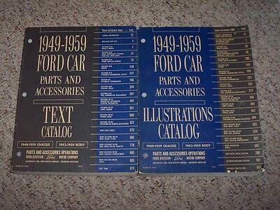 1955-1959 Ford Thunderbird Parts Catalog Manual Convertible Hard Top 56 57 58