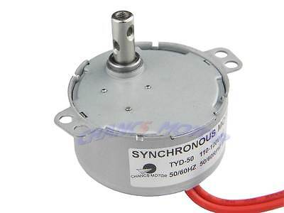 50-60rpm Synchronous Motor Robust Tyd-50 110-120v Torque 4w Gear Motor New