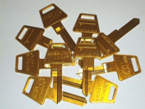 American Lock R1 Restricted Key Way Key Blank 6 Pin Lot of 10