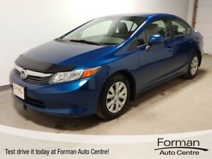 2012 Honda Civic LX - New Tires - Gas miser! One owner, local...