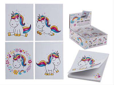 Notizblock EINHORN A7 Format 40 Blatt Block Papier Mitgebsel Kindergeburtstag