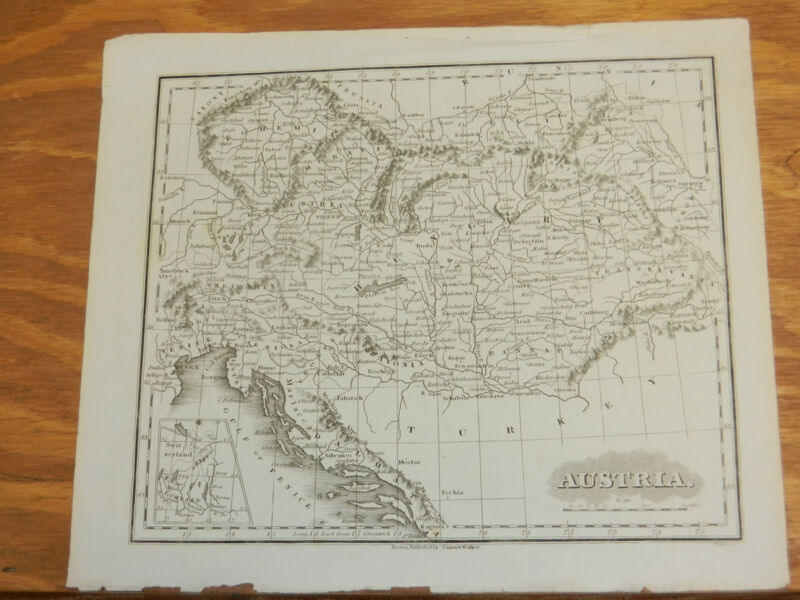 1846 Antique Map//AUSTRIA