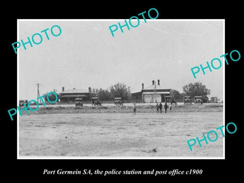 OLD POSTCARD SIZE PHOTO OF PORT GERMEIN SA THE PO & POLICE STATION c1900