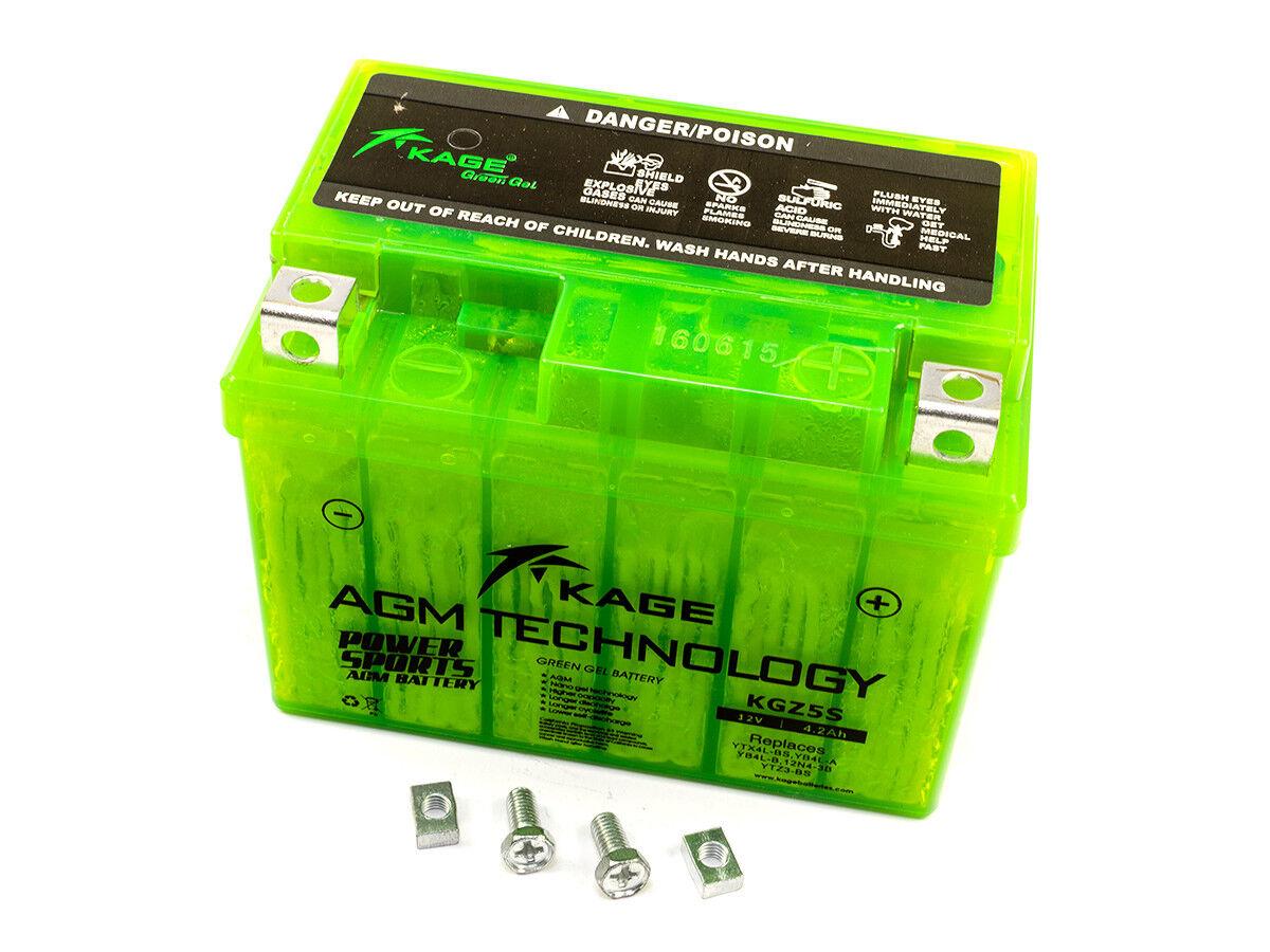 GEL Batterie KAGE Green YTX4L-BS YB4L-B YB4L-A YTZ5S für Honda KTM Suzuki Yamaha