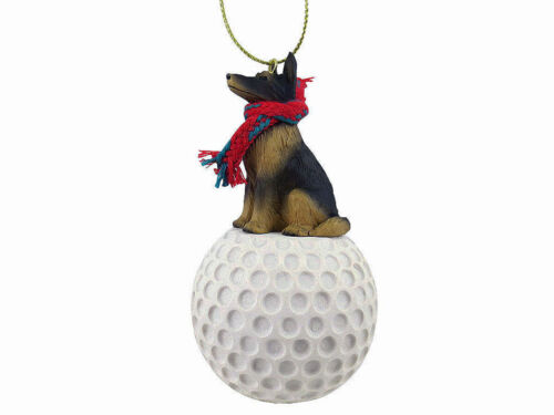 Belgian Tervuren Dog Golf Sports Figurine Ornament