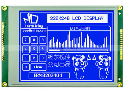 320x240 Blue Graphic Lcd Module Displayra8835 Sed1335optional Touch Panel