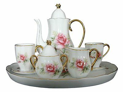 Children's 10 Piece Mini Tea Party Set for 2, Rose