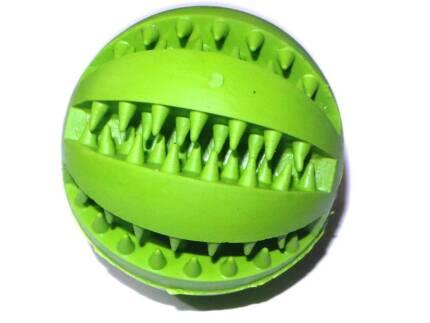 Bouncy Rubber Dental Treat Ball Dog Toy