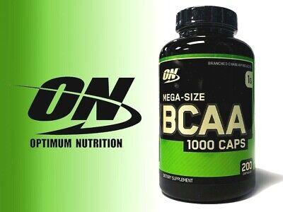 Optimum Nutrition BCAA 1000mg Amino Acids - 200 capsules BUILD MUSCLE