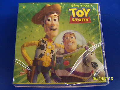 RARE Toy Story 3 Disney Pixar Movie Kids Birthday Party Paper Beverage Napkins - Toy Story Paper