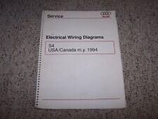 1994 Audi S4 Quattro Original Electrical Wiring Diagrams ...