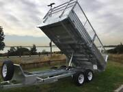 14x7 Flat Bed Tipper Trailer Truck Trailer Galvanised Tipper Kurnell Sutherland Area Preview