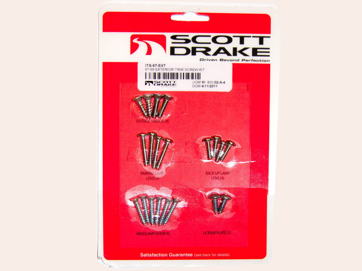1967-1968 Mustang Coupe Interior Trim Screw Kit New