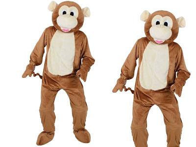 Erwachsenen Großen Kopf Unverschämter Affe Kostüm Maskottchen Dschungeltier
