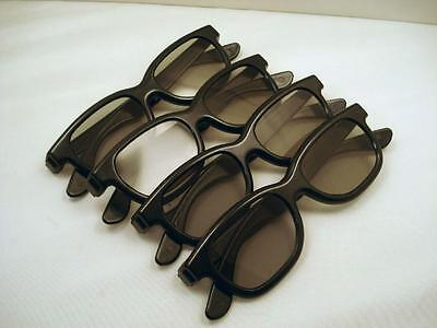 4 Pairs Passive 3D Glasses Polarized Plastic Lenses for SONY Passive TV TDG-500P