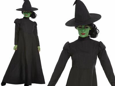 Böse Hexe Damenkostüm Halloween Kostüm Hexen Outfit UK 4-18 ()
