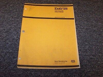 Case Davis Task Force 800 Trencher Backhoe Owner Operator User Guide Manual