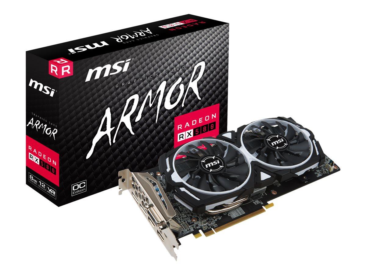 MSI AMD Radeon RX 580 8GB ARMOR 8G OC DVI HDMI DP V341-064R Grafikkarte Retail