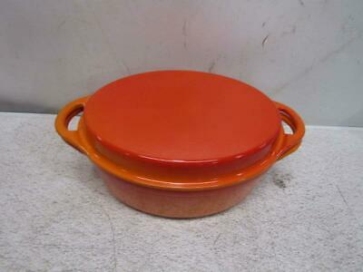 Le Creuset Cast Iron Oval Oven With Reversible Grill Pan Lid - 4.75 Quart- Flame