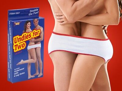 Undies For Two - Adult Sharing Underwear - Double the Fun! GaG Joke Novelty Gift](Halloween Undies)
