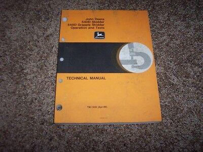 John Deere 540d 548d Grapple Skidder Operation Test Technical Manual Tm1439