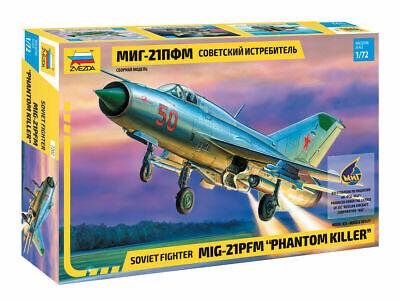 Mikoyan-Gurevich Mig 21Pfm Airplane Phantom Killer 1955 Kit ZVEZDA 1:72 ZS7202