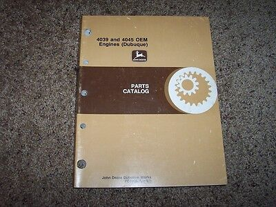 Jd John Deere 4039 4045 Oem Engines Part Catalog Manual Pc2305 Pc 2305