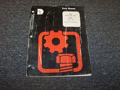 Dresser H80b Rubber Tired Loader Original Factory Parts Catalog Manual Book