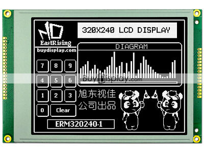 5.7 Inch Black 320x240 Graphic Lcd Display Modulera8835sed1335optional Touch