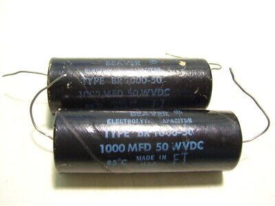 2pcs Cornell Dubilier Br 100-50 Capacitor 1000uf 50wvdc P3762